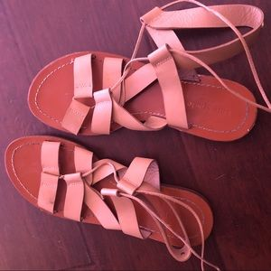 Kate spade nude lace up sandals 8.5